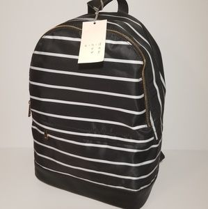 NWT A New Day Striped Nylon Backpack